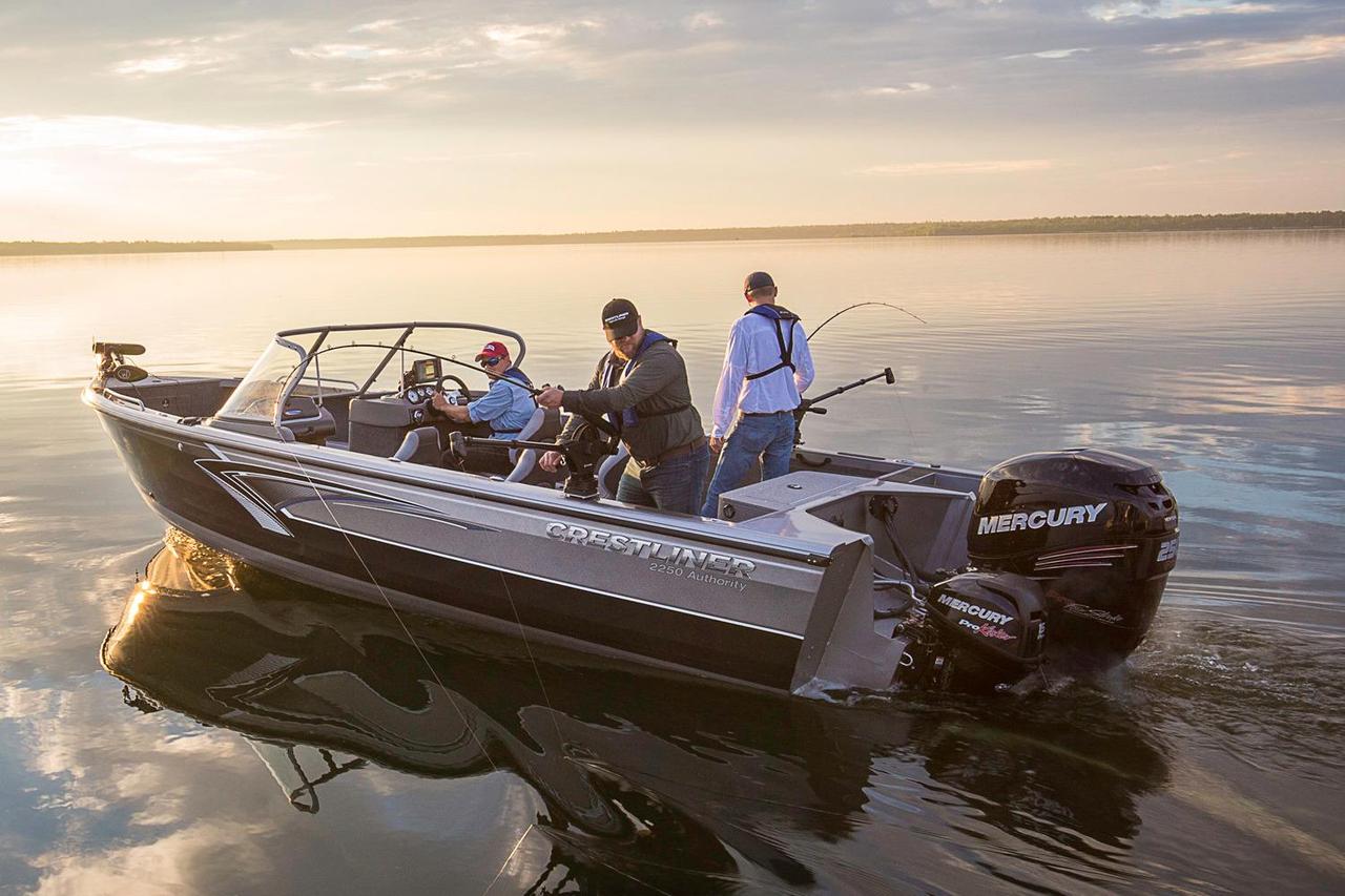 2016 new crestliner aluminum fish boat aluminum fishing for Fishing boat for sale