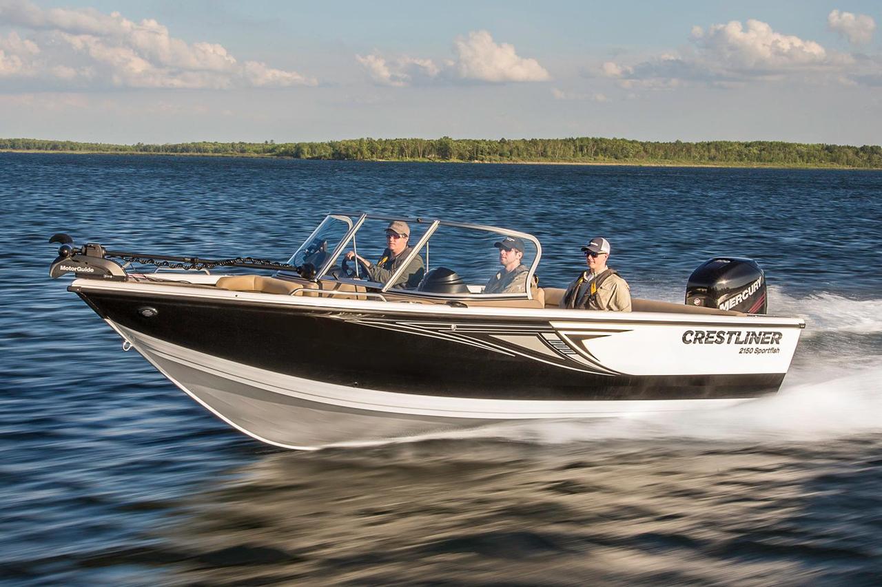 2016 new crestliner 2150 sportfish sst aluminum fishing for Alaska fishing boats for sale