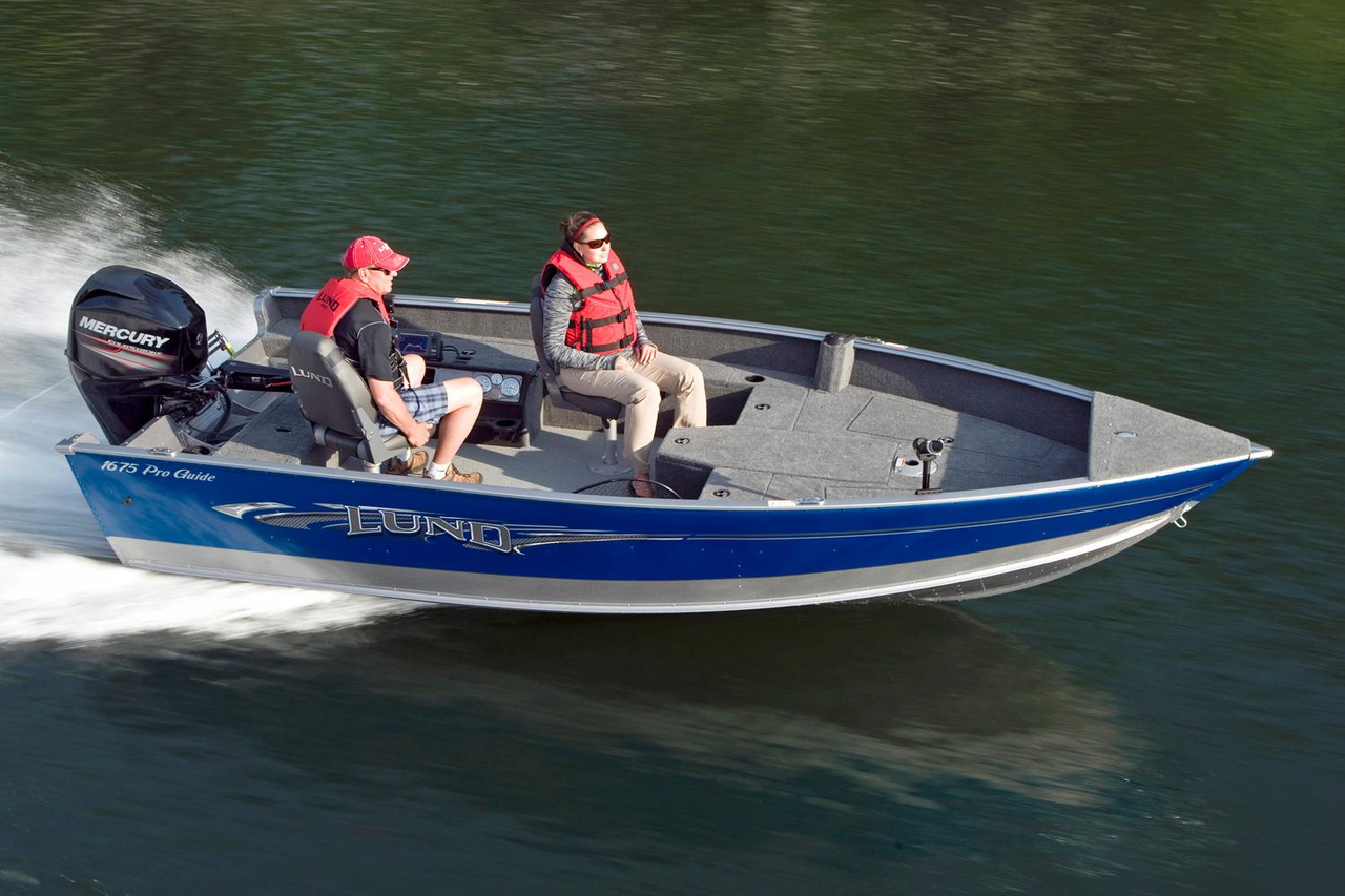 2016 new lund 1675 pro guide freshwater fishing boat for for Alaska fishing boats for sale