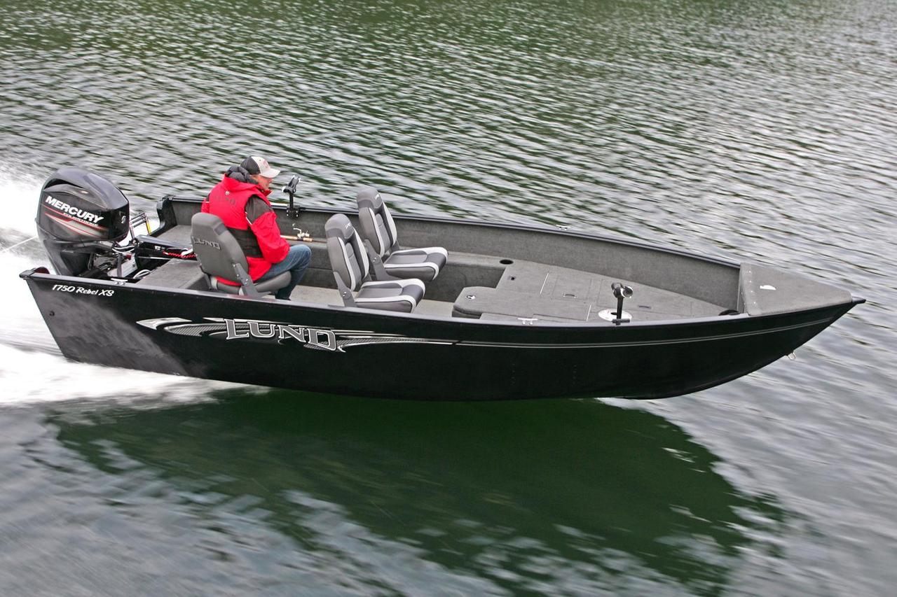 2016 new lund 1750 rebel xs tiller aluminum fishing boat for Fishing boat for sale