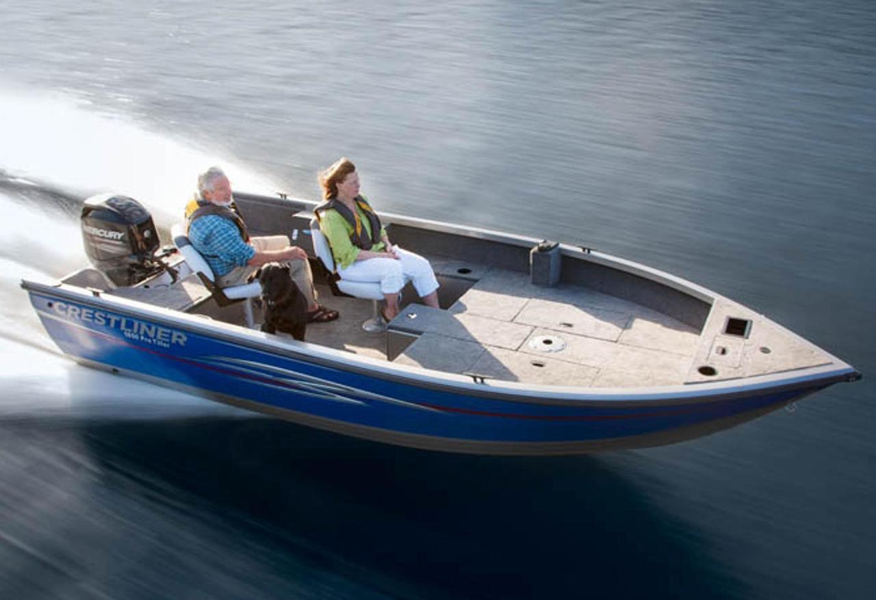 2013 new crestliner 1650 pro tiller freshwater fishing for Freshwater fishing boats