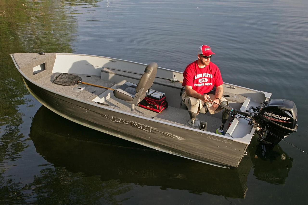 2016 new lund 1400 fury tiller freshwater fishing boat for for Best freshwater fishing boats