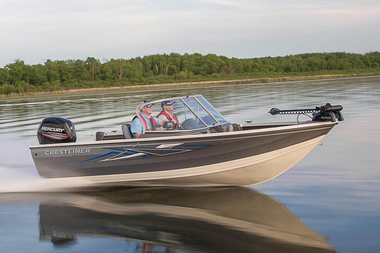 2016 new crestliner 1650 super hawk aluminum fishing boat for New fishing boats for sale