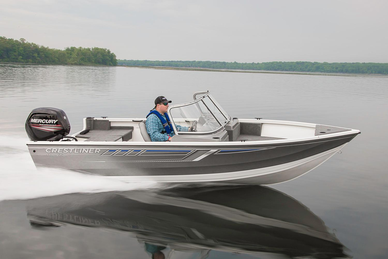 2016 new crestliner 1700 vision aluminum fishing boat for for New fishing boats for sale