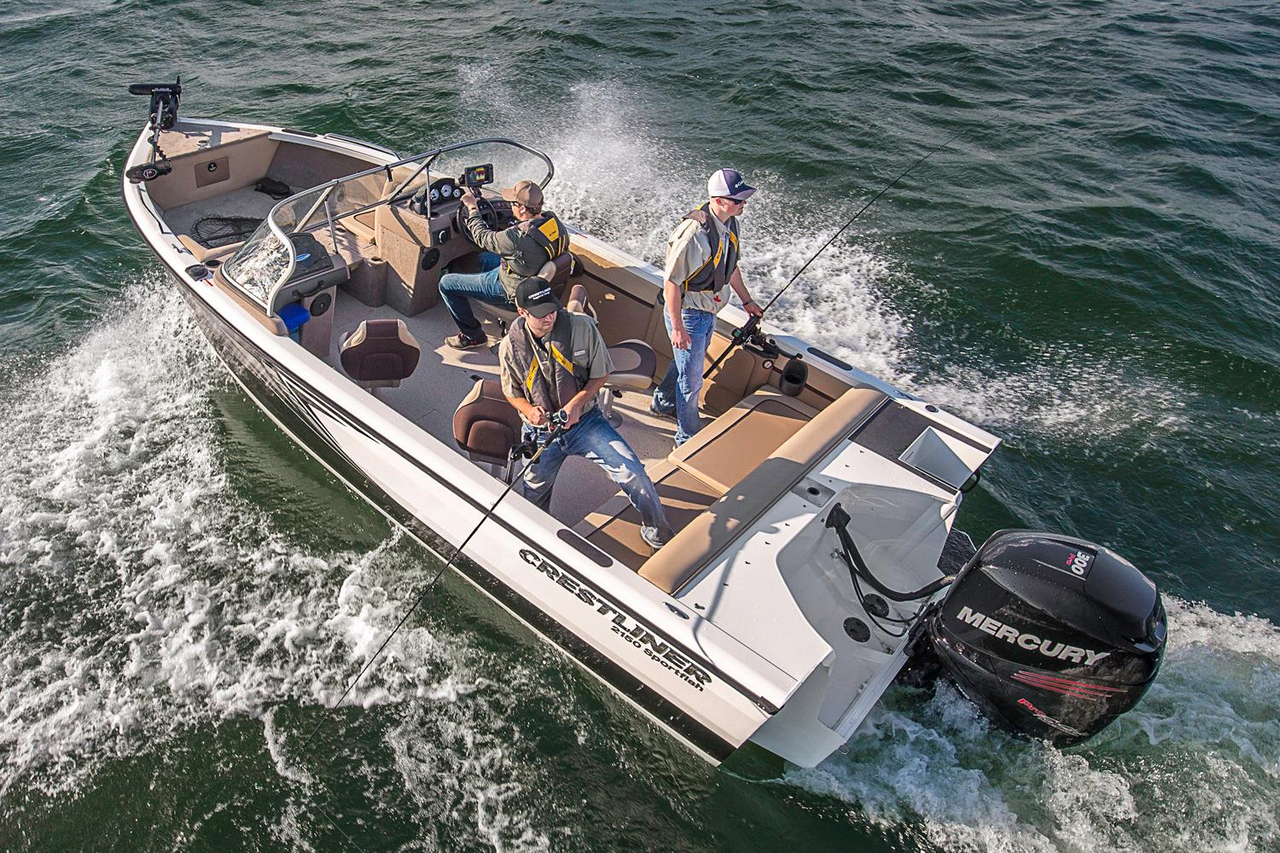 2016 new crestliner 2150 sportfish sst aluminum fishing for Aluminum fishing boats