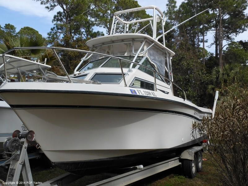 1984 used grady white 240 offshore walkaround fishing boat for Tuna fishing boats for sale