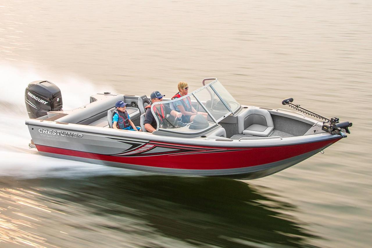 2016 new crestliner 1950 sportfish outboard aluminum for Metal fishing boat