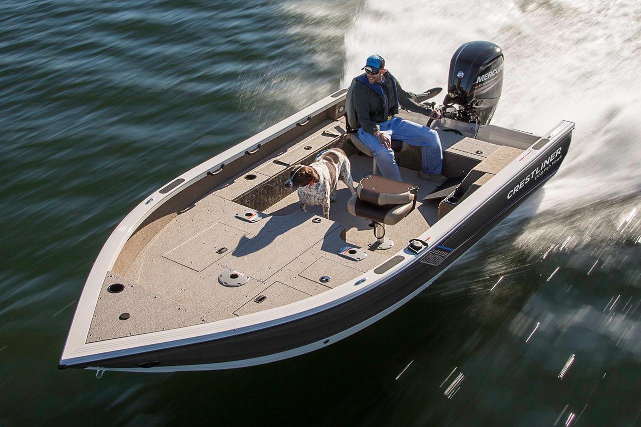 2016 new crestliner 1750 pro tiller aluminum fishing boat for New fishing boats for sale