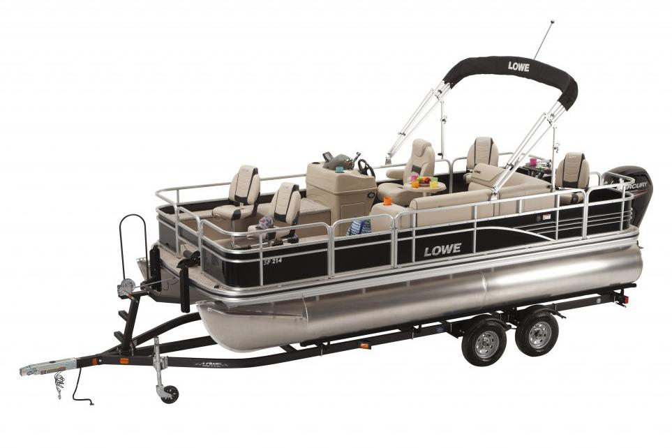 2016 new lowe sf214 sport fish pontoon boat for sale for Fishing boat dealers near me