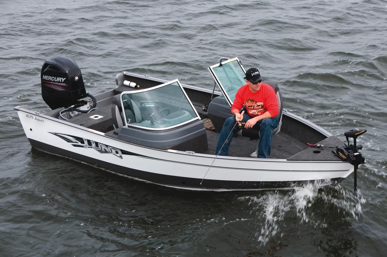 2016 new lund 1675 impact sport freshwater fishing boat for Best freshwater fishing boats