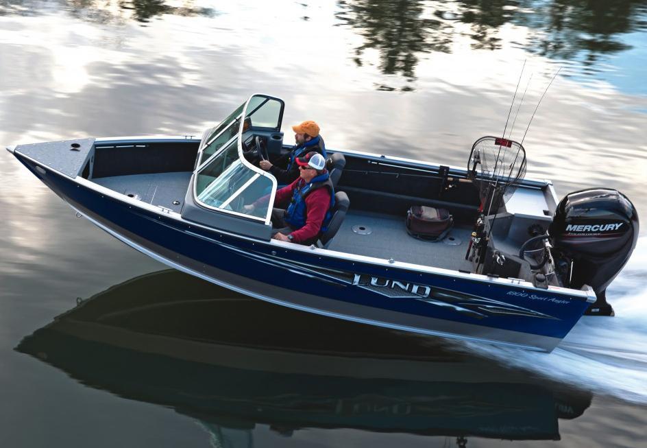 2016 new lund 1800 sport angler aluminum fishing boat for for Angler fishing boat