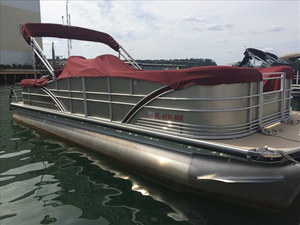 Used Sanpan SP 2500 SLR Pontoon Boat For Sale