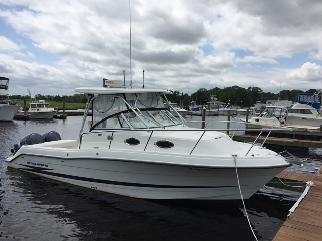 2004 used hydra sports 2800 walkaround sports fishing boat for Fishing boats for sale nj