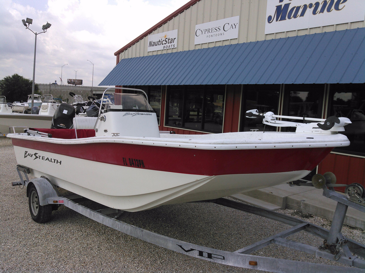 2008 used bay stealth 2194 skiff flats fishing boat for for Flats fishing boats