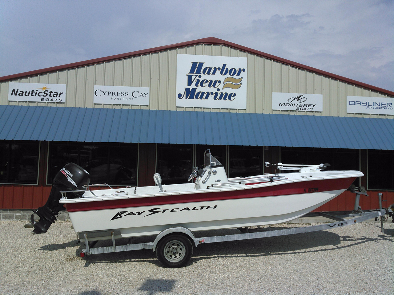 2008 used bay stealth 2194 skiff flats fishing boat for for Used fishing boats for sale in florida