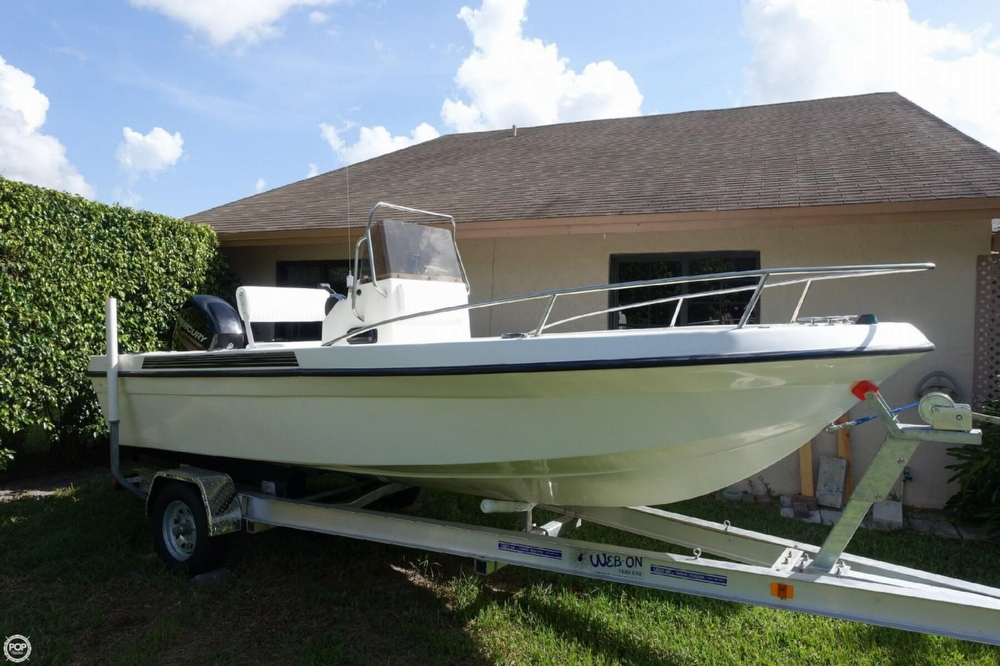 2002 used ohio marine 16 center console fishing boat for