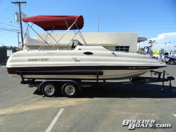 1998 Used Ebbtide 2300 Fun Chaser Deck Boat For Sale