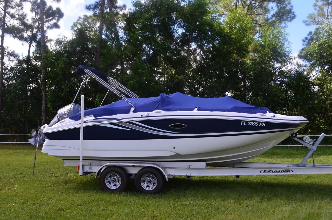 2013 used hurricane sundeck sport ss 220 ob deck boat for for Hurricane sundeck for sale