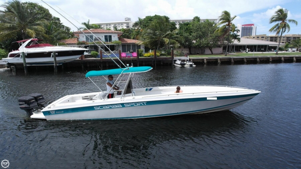 1994 used scarab 30 sport center console fishing boat for for Center console sport fishing boats