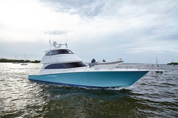 Used Viking Yachts Enclosed Bridge Sports Fishing Boat For Sale