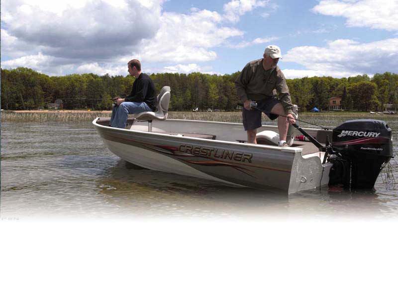 2006 used crestliner angler 1600 tiller freshwater fishing for Best freshwater fishing boats