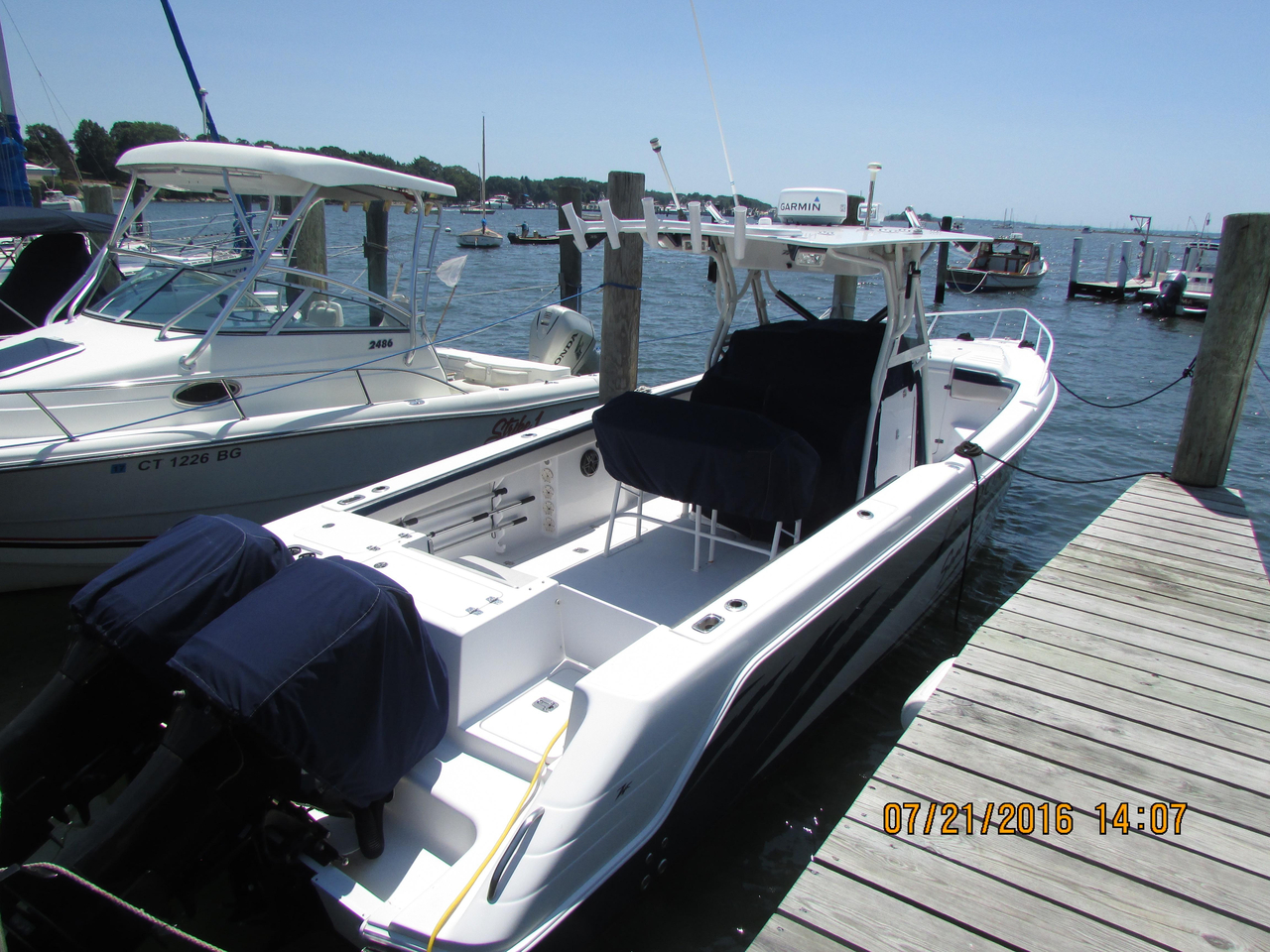 2003 used donzi 35zf center console fishing boat for sale for Donzi fishing boats