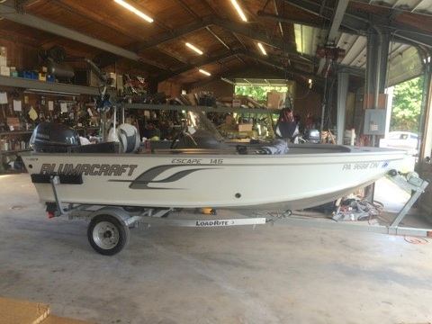 Used Alumacraft Escape 145 CS Sports Fishing Boat For Sale