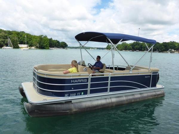 Used Harris Cruiser 200 Rental Pontoon Boat For Sale
