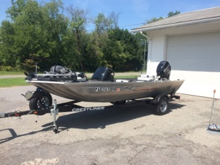 Used Crestliner 17 Storm Sports Fishing Boat For Sale