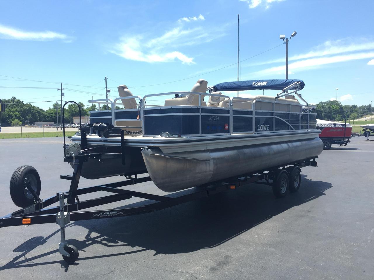 2014 used lowe sf234 sport fish pontoon boat for sale for Used fishing pontoon boats for sale