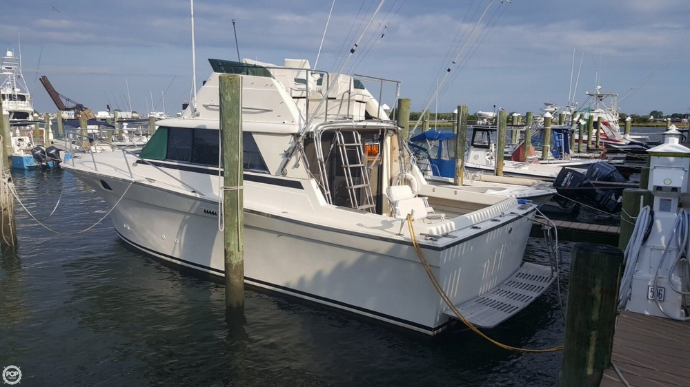 1980 used silverton 34 convertible sports fishing boat for for Point pleasant fishing boats