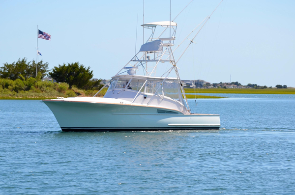Used Custom Carolina Gary Davis 40 Express Repowered Saltwater Fishing Boat For Sale
