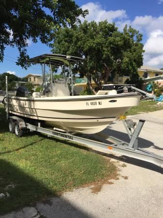 Used Caribe Pro CP 235 Panga Center Console Fishing Boat For Sale