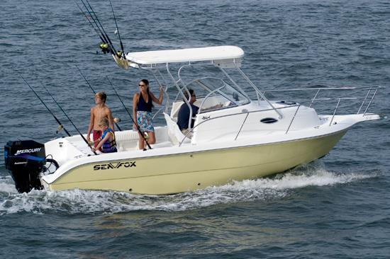 Used Sea Fox 236 Walk Around Saltwater Fishing Boat For Sale