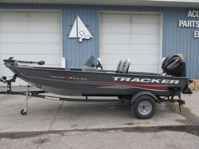 2017 new tracker super guide v 16 sc aluminum fishing boat for Used aluminum fishing boats for sale in michigan