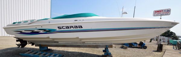 Used Wellcraft Scarab 33 High Performance Boat For Sale