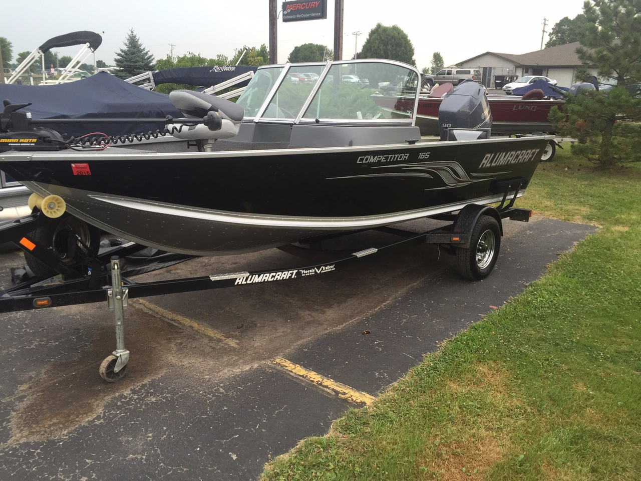 2013 used alumacraft competitor 165 cs aluminum fishing