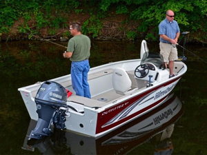 Used Mirrocraft Outfitter Series 1677-O Aluminum Fishing Boat For Sale