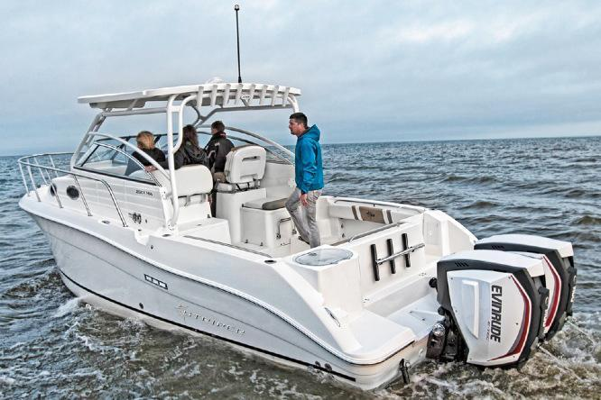 2016 new striper 290 walkaround290 walkaround fishing boat for Fishing boats point pleasant nj