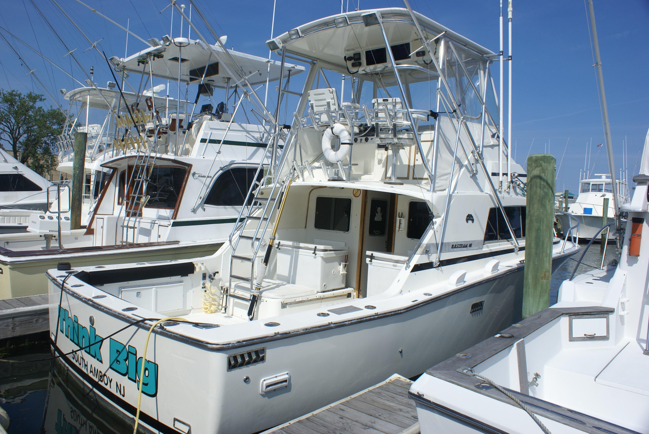 1984 used bertram 33 sportfish sports fishing boat for for Fishing boats for sale nj