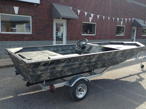 New Alweld 1648 Marsh Series Side Console Aluminum Fishing Boat For Sale