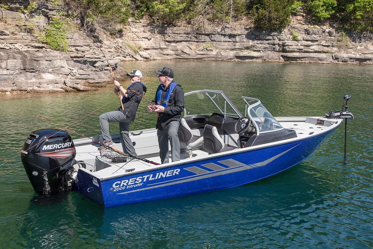 2016 new crestliner 2000 intruder aluminum fishing boat for Fishing boats for sale mn