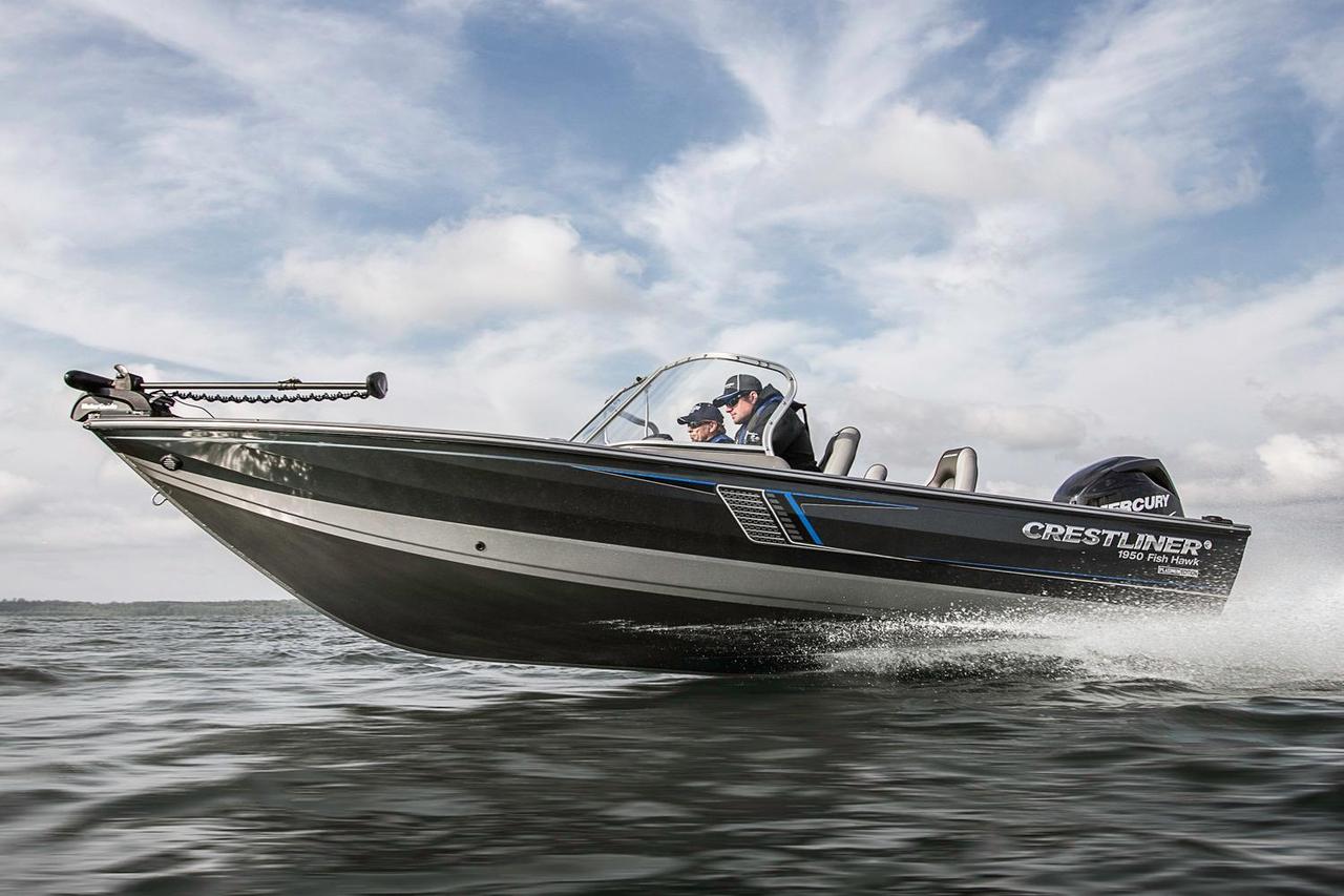 2016 new crestliner 1950 fish hawk sc aluminum fishing for Fishing boat for sale