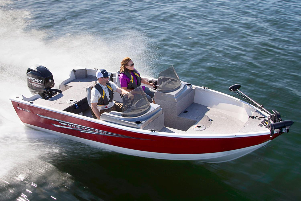 2016 new crestliner 1600 vision aluminum fishing boat for for New fishing boats