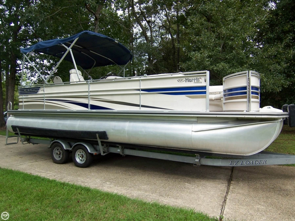 Used Harris Flote Bote 25 Royal Heritage 250 Pontoon Boat For Sale