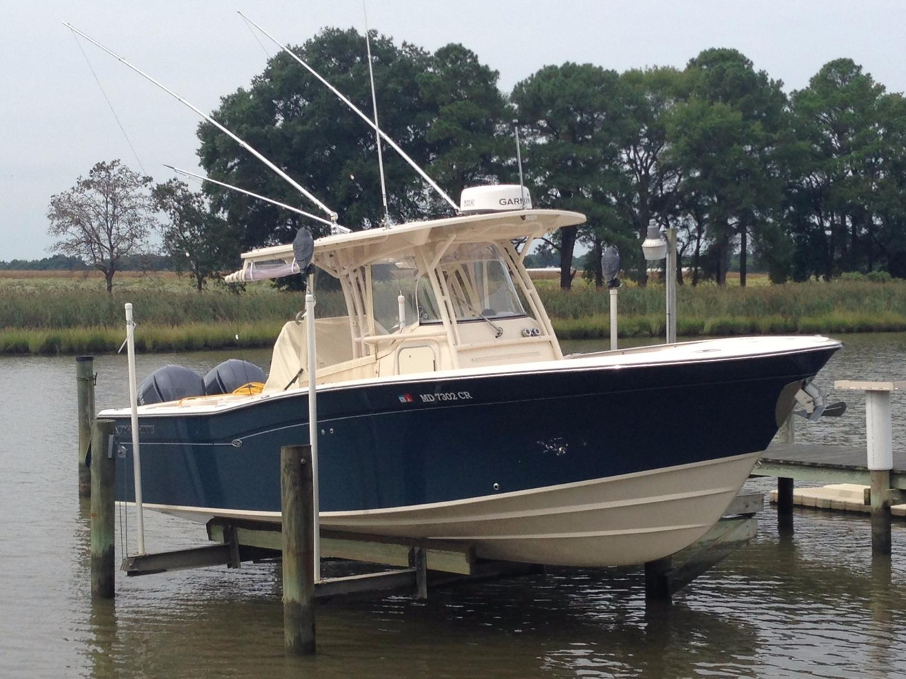 2015 used grady white 306 canyon with helm master center for Grady white fishing boats