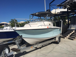 Used Angler 22 Walk Around Walkaround Fishing Boat For Sale