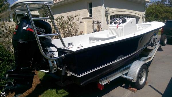 Used Custom Buddy Cannady 19 Skiff Fishing Boat For Sale