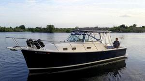 Used Mainship 30 Pilot II Rigid Bimini Downeast Fishing Boat For Sale