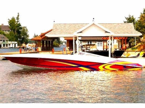 Used Fountain Lighting High Performance Boat For Sale